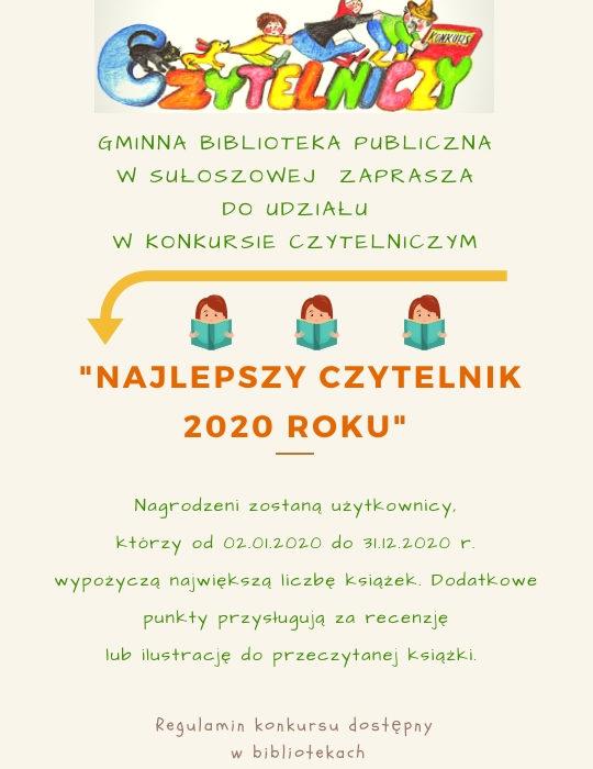 plakat czytelnik roku 2020