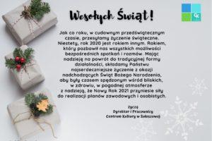 Życzenia Boże Narodzenie 2020